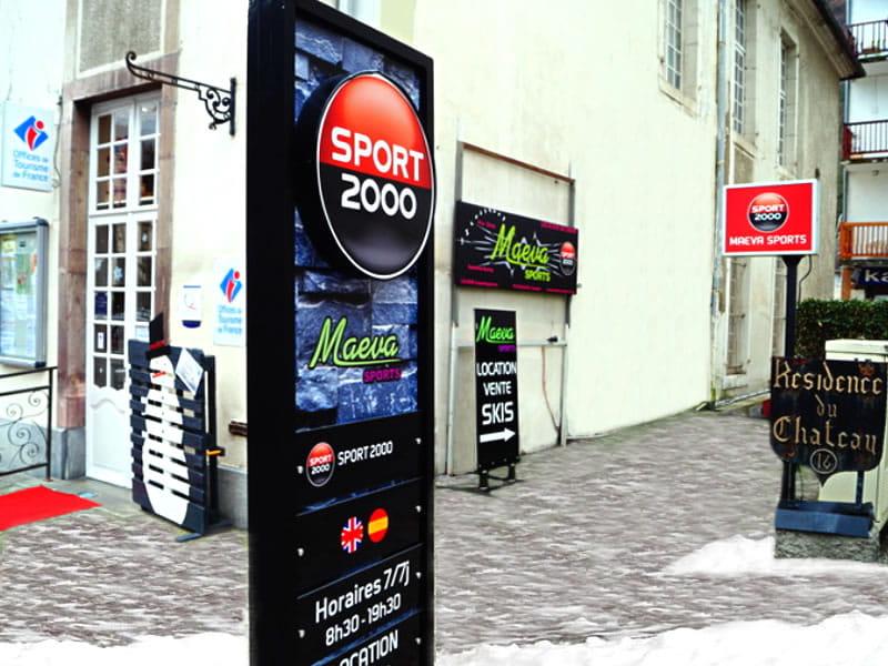 Skiverhuur winkel MAEVA SPORTS, 16 Allées d'Etigny in Luchon-Superbagnères