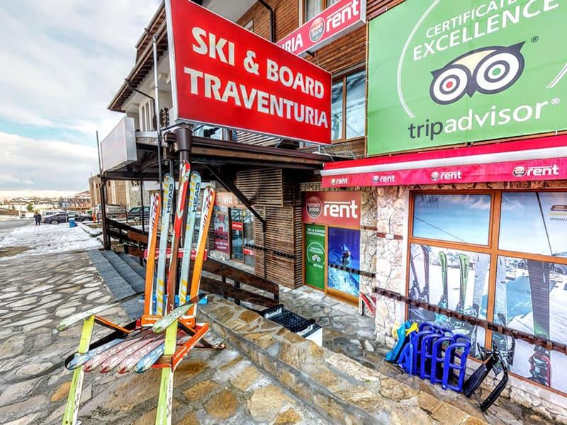 Skiverhuur winkel Ski & Board Traventuria - Ski Bansko, 92E Pirin Str. (Pirin Palace Hotel) in Bansko