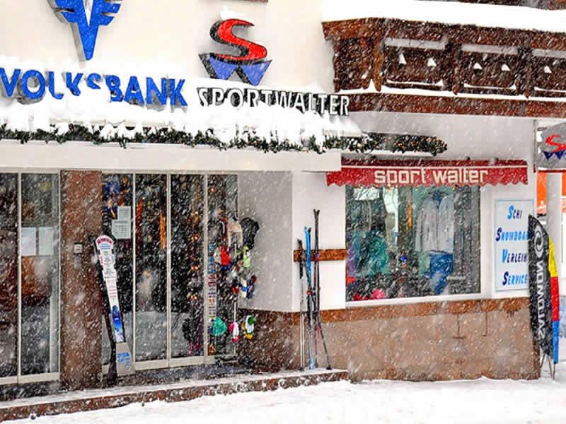 Skiverhuur winkel Sport Walter, Am Dorfplatz 41 in Galtür