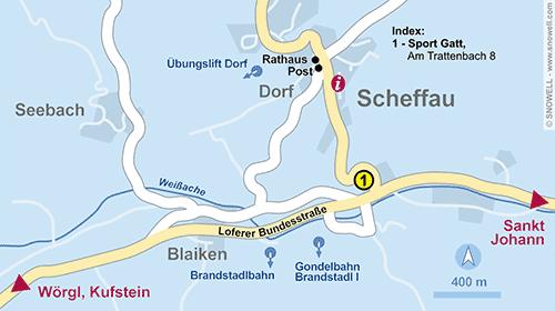 Plattegrond Scheffau