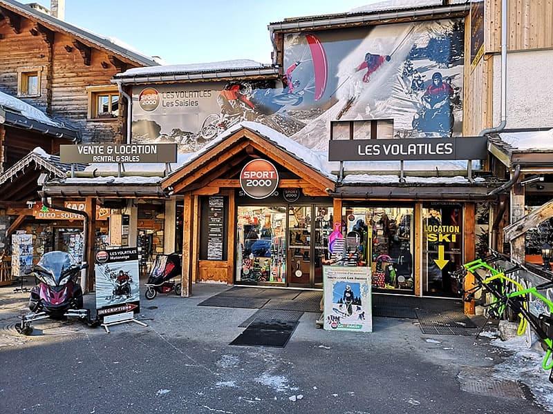 Skiverhuur winkel LES VOLATILES, Avenue des J.O. in Les Saisies