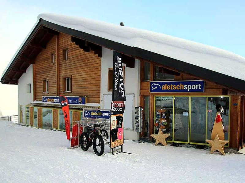 Skiverhuur winkel ALETSCH SPORT MITTE, Bahnhofstrasse 6 - Bergstation Luftseilbahn Mörel in Riederalp