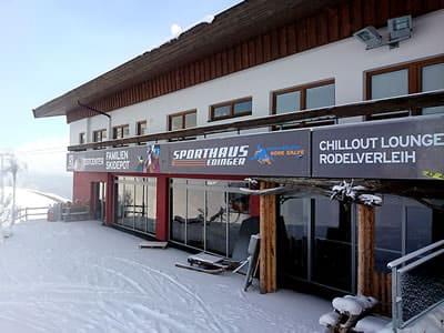 Skiverhuur winkel Sport Edinger Testcenter, Söll in Bergstation Gondelbahn Hochsöll
