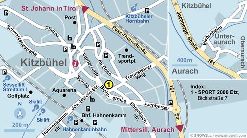 Plattegrond Kitzbühel