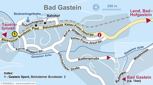 Plattegrond Bad Gastein
