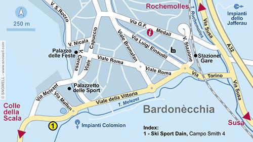 Plattegrond Bardonecchia