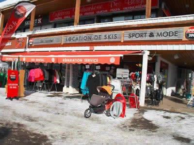 Skiverhuur winkel OLIVIER SPORTS, Alpe d'Huez in Centre commercial des Bergers