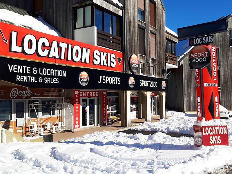 Skiverhuur winkel J'SPORTS, Centre Commercial Font d'Alagnon in Super Lioran