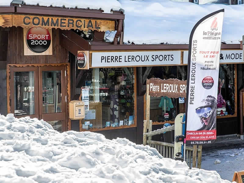 Skiverhuur winkel PIERRE LEROUX SPORTS, Centre Commercial in La Plagne - Villages