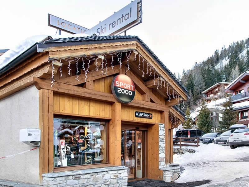 Skiverhuur winkel PLAGNE 1800 SPORTS, Départ des pistes in La Plagne 1800