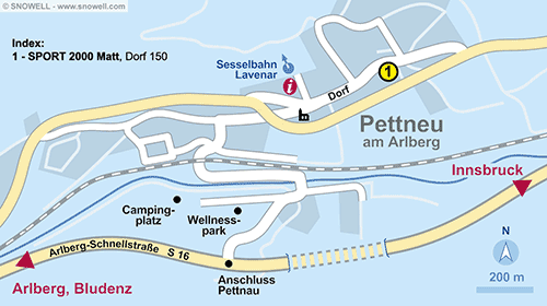 Plattegrond Pettneu