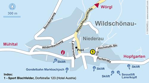 Plattegrond Wildschönau-Niederau