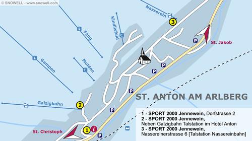 Plattegrond St. Anton am Arlberg