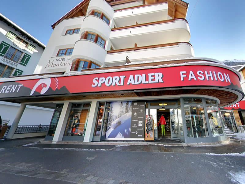 Skiverhuur winkel Sport Adler, Dorfstrasse 75 in Ischgl