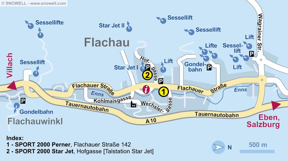 Skiverhuur winkel SPORT 2000 Perner, Flachau in Flachauer Str. 142