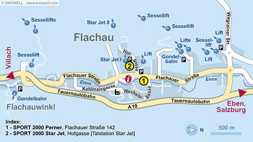 Plattegrond Flachau