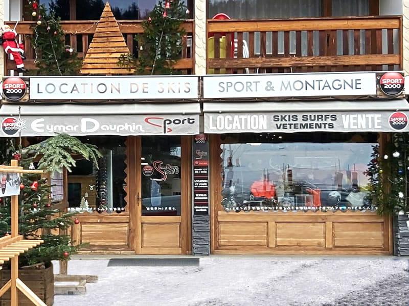 Skiverhuur winkel EYMAR DAUPHIN SPORTS, Galerie Commerciale (face aux pistes) in Saint Leger les Mélèzes
