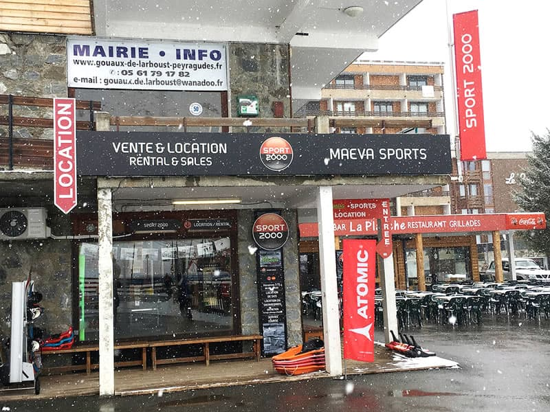 Skiverhuur winkel Maeva Sports, Galerie des genévriers - versant Agudes in Les Agudes