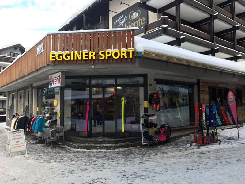 Skiverhuur winkel Egginer Sport, Gletscherstrasse 3 in Saas-Fee