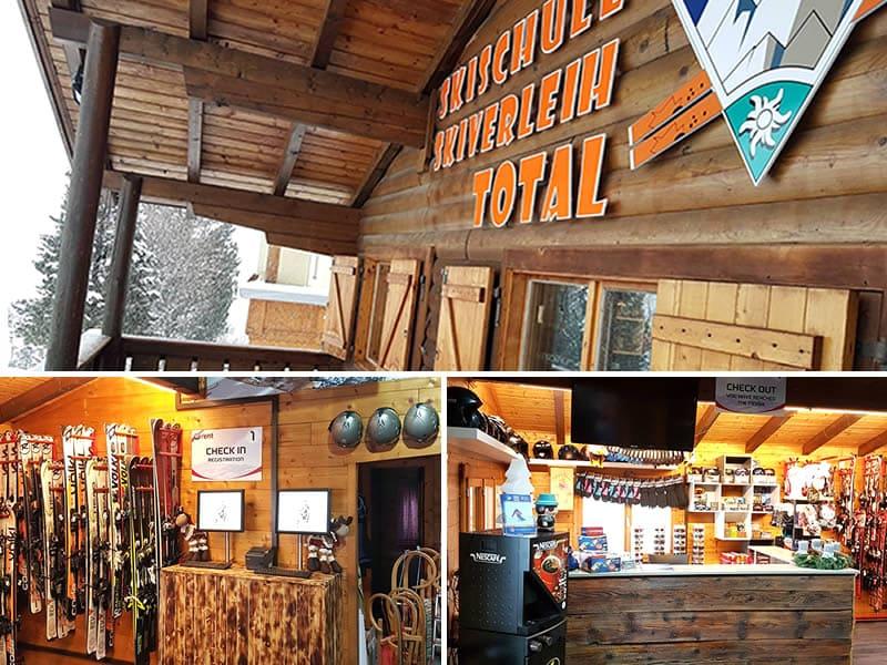 Skiverhuur winkel Skischule Skiverleih Total, Glungezerstrasse 17 in Tulfes