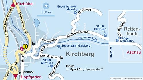 Plattegrond Kirchberg i. Tirol