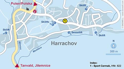 Plattegrond Harrachov