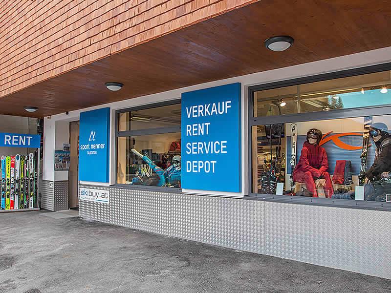 Skiverhuur winkel Sport Nenner, HNr. 794 - Talstation Gletscherbahn in Hintertux