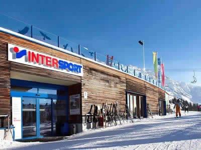 Skiverhuur winkel INTERSPORT - Silvretta Montafon, Schruns in Hochjoch/Zamangbahn Bergstation