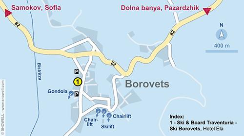 Plattegrond Borovets