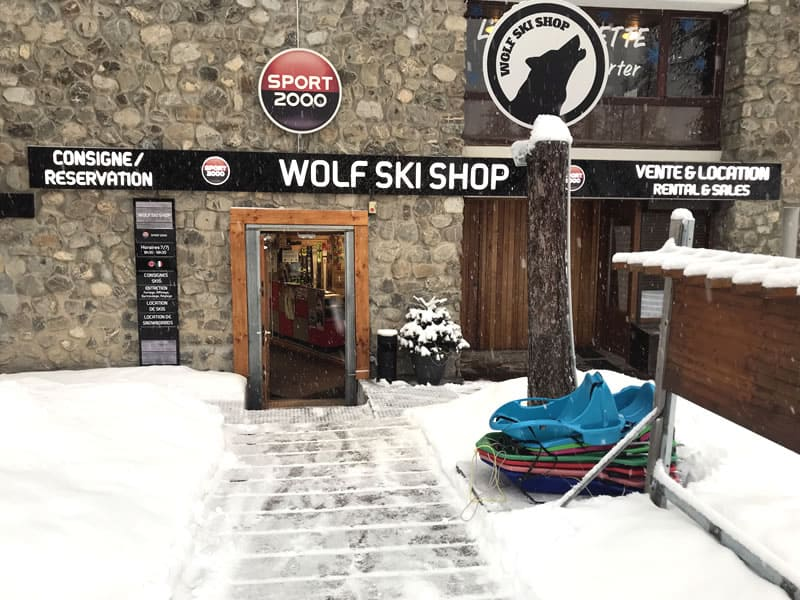 Skiverhuur winkel WOLF SKI SHOP, Immeuble le Clos du Loup [Parking du Loup Blanc] in Pra Loup