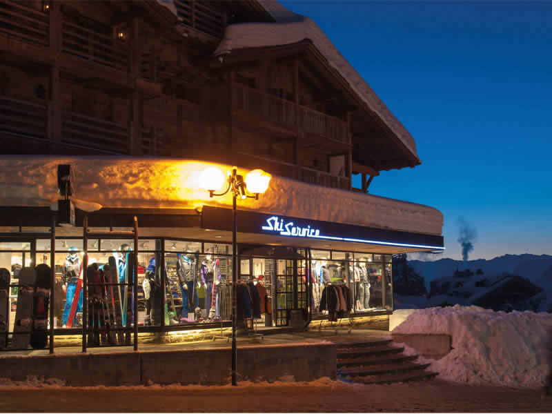 Skiverhuur winkel Ski Service, La Vallée Blanche in Verbier