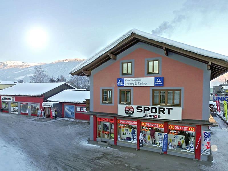 Skiverhuur winkel SPORT 2000 Simon, Leogangerstraße 23 in Saalfelden