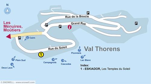 Plattegrond Val Thorens