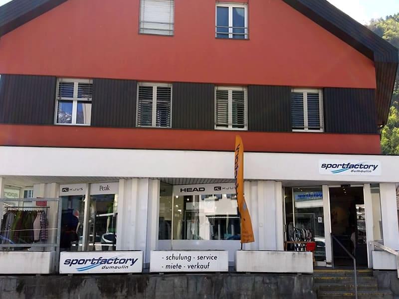 Skiverhuur winkel Sportfactory Dumoulin, Maienfelderstrasse 4 [in Bad Ragaz] in Wangs