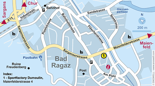 Plattegrond Bad Ragaz