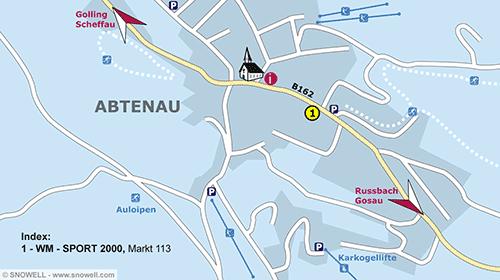 Plattegrond Abtenau