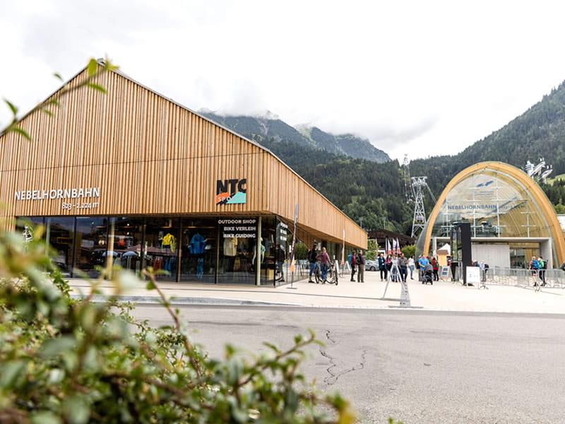 Skiverhuur winkel NTC - Oberstdorf, Nebelhornstrasse 67 - Nebelhornbahn Talstation in Oberstdorf