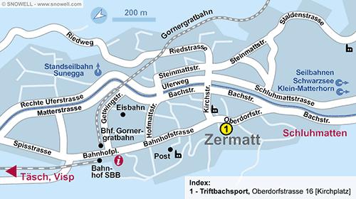 Plattegrond Zermatt