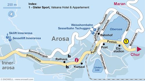 Plattegrond Arosa