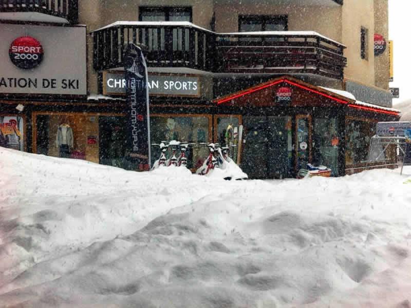Skiverhuur winkel CHRISTIAN SPORTS, Orrianes des sources in Les Orres