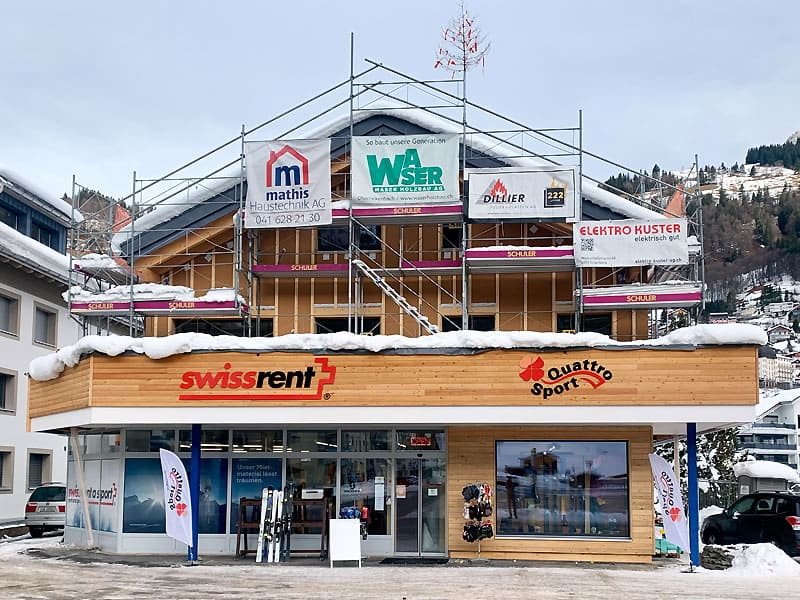 Skiverhuur winkel Swissrent Quattro, Parkplatz Titlisbahnen - Engelbergerstrasse 38 in Engelberg