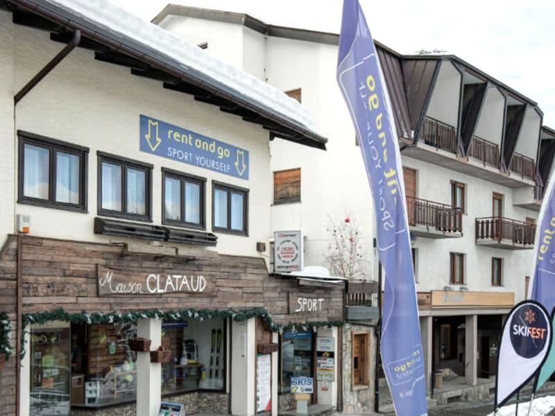 Skiverhuur winkel Maison Clataud Sport, Piazza Assietta, 16 in Sauze d'Oulx