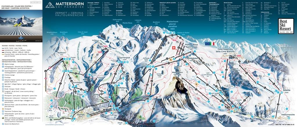 Skimap Zermatt