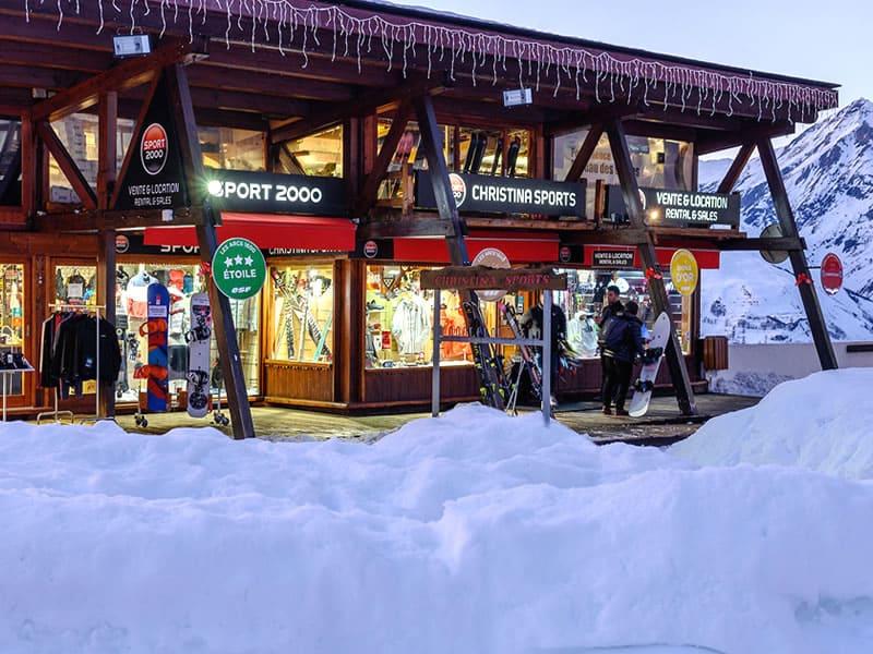 Skiverhuur winkel CHRISTINA SPORTS, Place du soleil - Funiculaire Arc-en-ciel in Les Arcs 1600