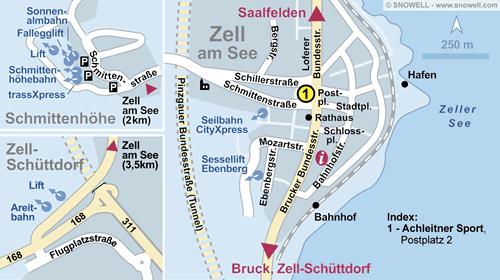 Plattegrond Zell am See