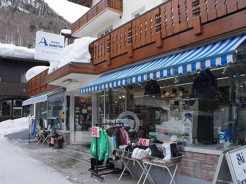 Skiverhuur winkel SPORT 2000 Azzurra Sport, Riedstrasse 10 in Zermatt