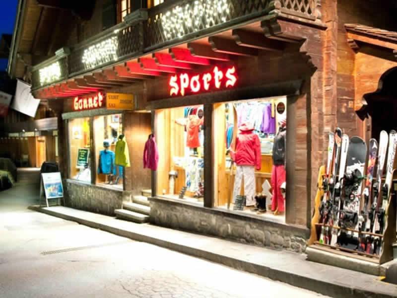 Skiverhuur winkel Gonnet Sports, Rue du Village 65 in Champéry