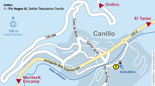 Plattegrond Canillo