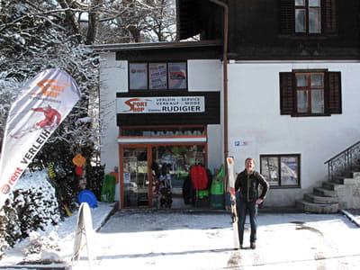 Skiverhuur winkel Sportshop Rudigier, Schruns in Silvrettastrasse 5