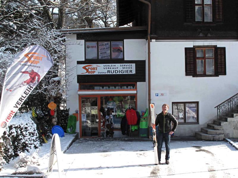 Skiverhuur winkel Sportshop Rudigier, Silvrettastrasse 5 in Schruns